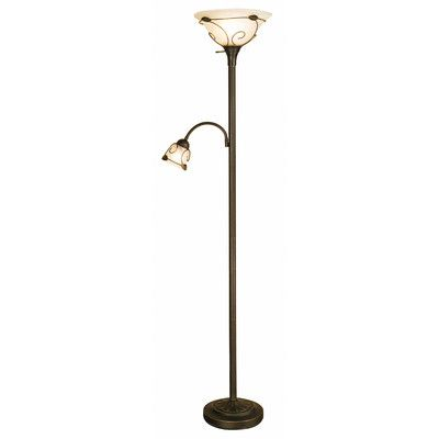 Normandelighting torchiere 71 floor lamp with side reading lamp wayfair