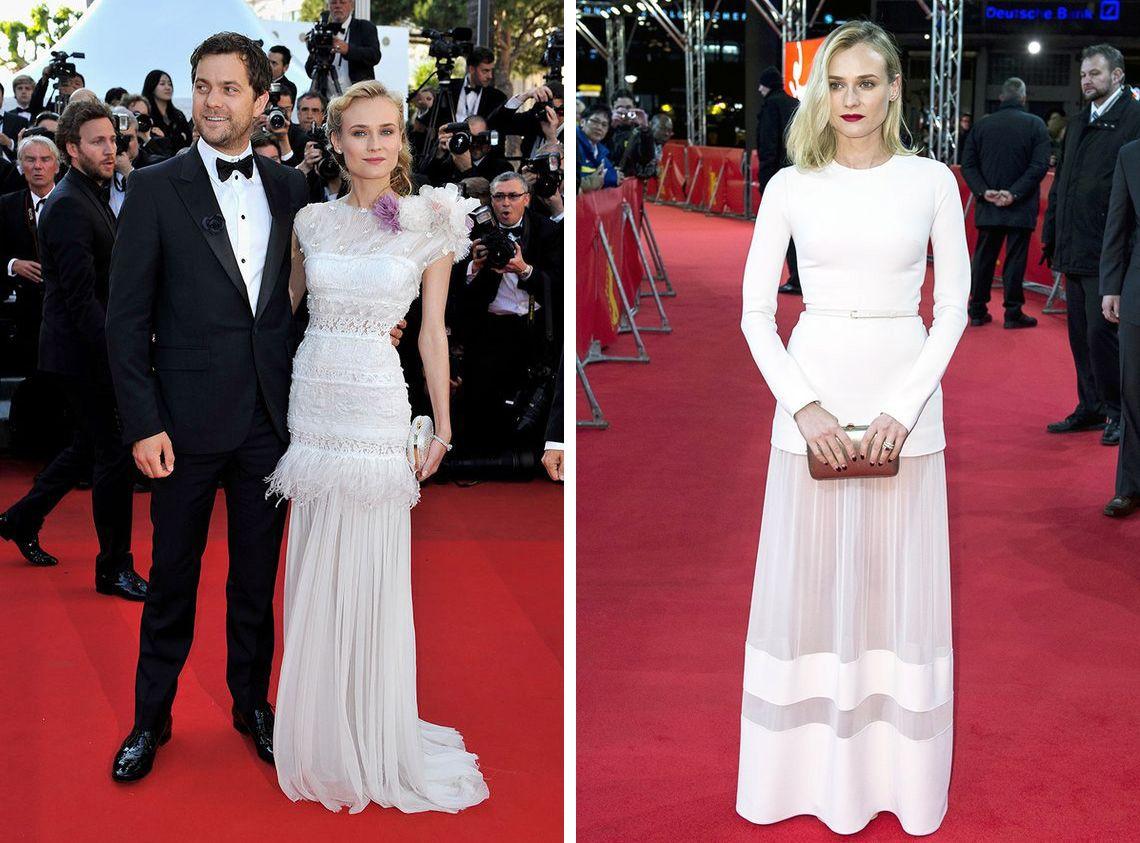 Diane kruger y estos dos vestidos en blanco no pod an - Alfombra nina ...