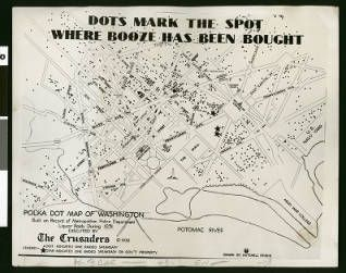 """Alleged """"speakeasy map"""" of the National Capital, 1932 :: Los Angeles Examiner Collection, 1920-1961"""