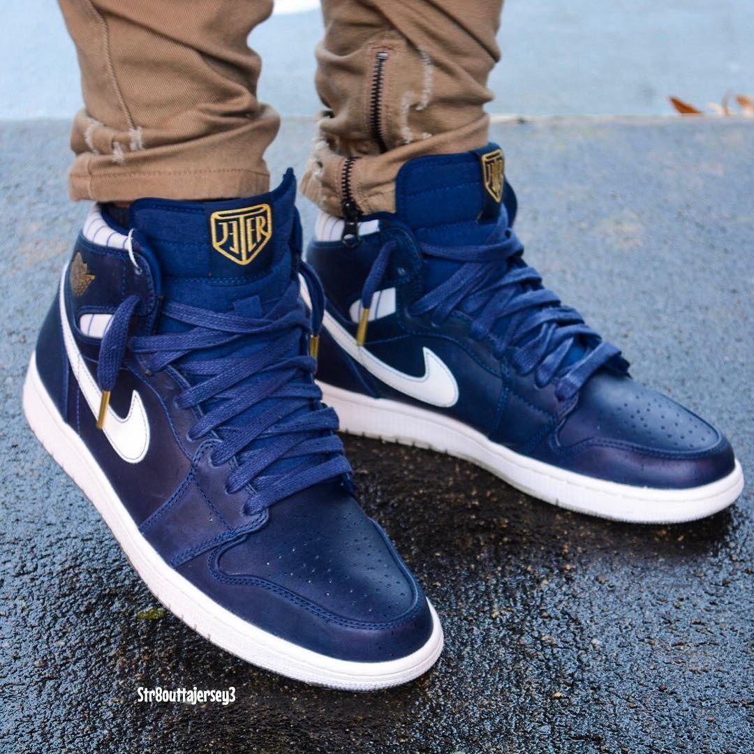 """Air Jordan 1 Retro High """"Jeter"""" Sneakers men fashion"""