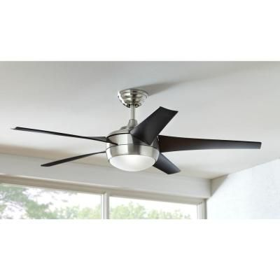 Home Decorators Collection Statewood 70 In Led Brushed Nickel Ceiling Fan With Light Kit And Remote Control 51770 The Home Depot In 2021 Ceiling Fan With Light Brushed Nickel Ceiling Fan Ceiling Fan
