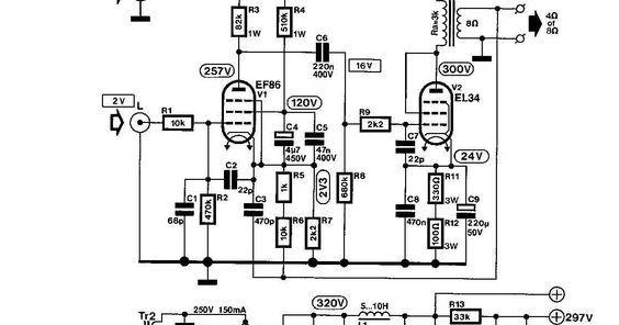 tube EF86 + EL34 8Watt Single-ended HI-FI Power Amplifiers