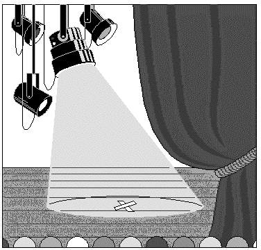 Theater Clip Art Black and White