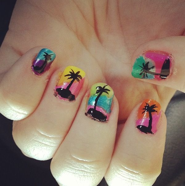 Pin by Tonya Whittle on My nails ️   Vacation nails, Beach ...