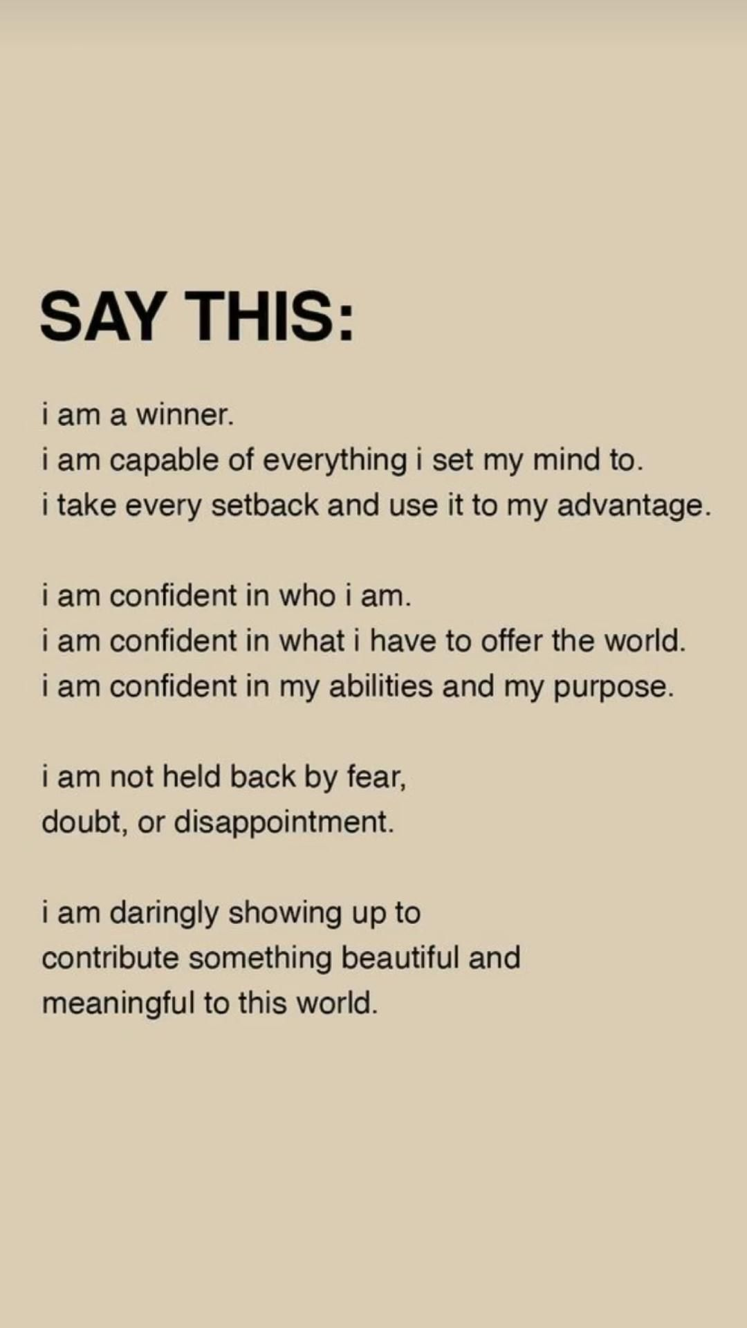 positive affirmations 🥰 wake up and start a new routine w me