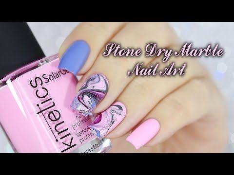 Stone Dry Marble Nail Art Youtube Nails Pinterest Marble