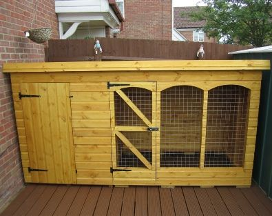 Combined Dog Kennel And Dog Run Cool Dog Houses Dog Kennel