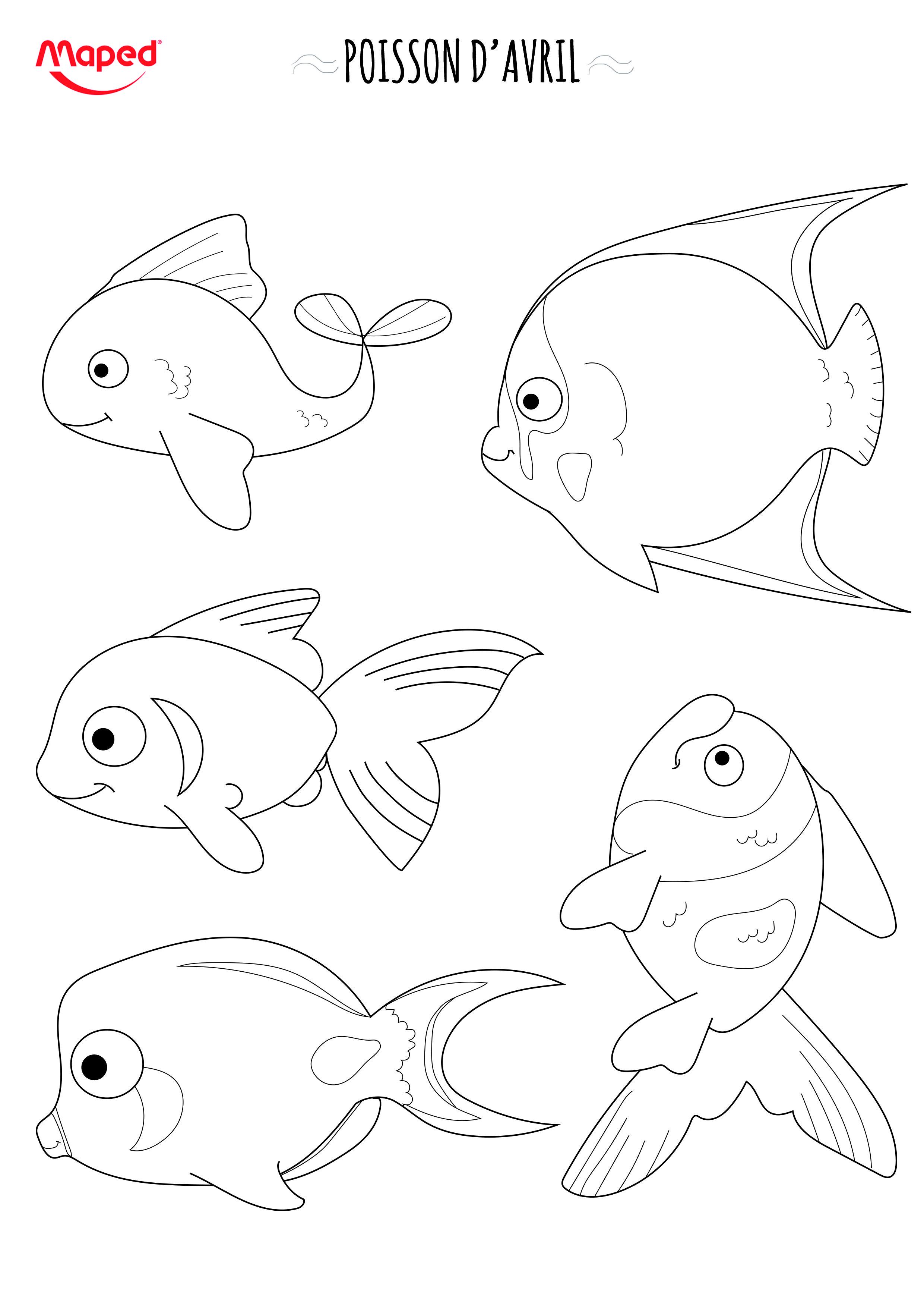 Partez  la pªche aux poissons d avril