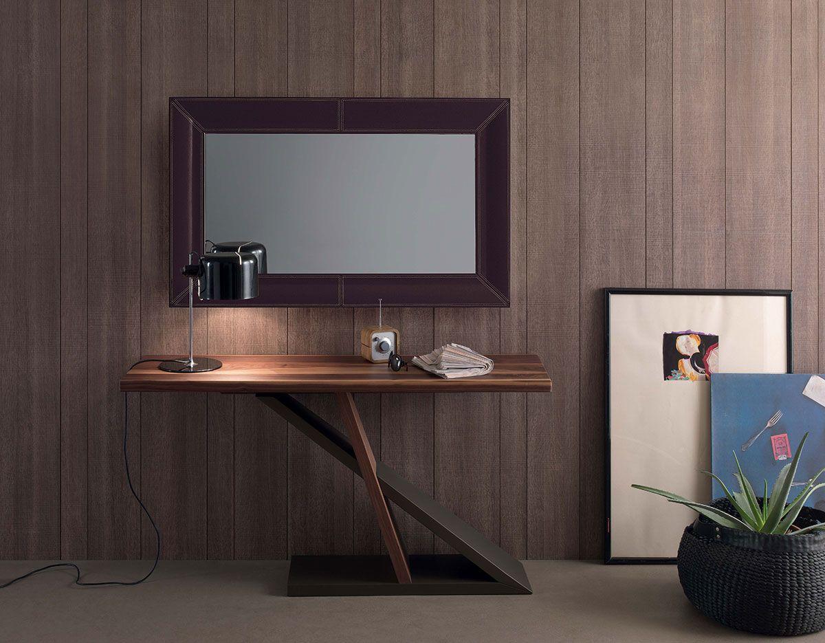 Specchio pelle cuoio bianco nero marrone arredamento casa for Arredamento casa bianco