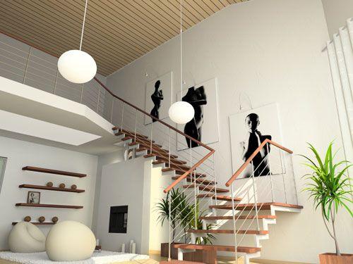 Treppenhaus gestalten schöner wohnen  Galerie im Treppenhaus | Treppenhaus | Pinterest | Treppenhaus ...