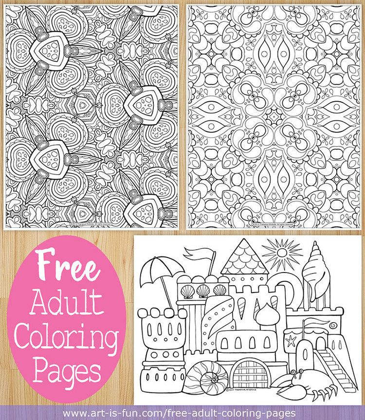 Free adult coloring pages art by Thaneeya McArdle | Crafts ...