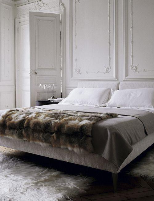 Manta piel master bedroom pinterest decoraci n de - Mantas de piel ...