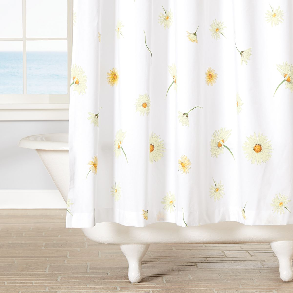 Daisy Shower Curtain Sunflower Room Curtains Premium Bedding