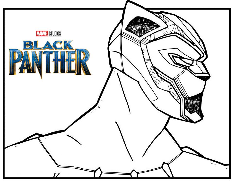 Marvel Black Panther Coloring Page Superhero Coloring Pages