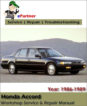 Download Honda Accord Service Repair Manual 1986 1989