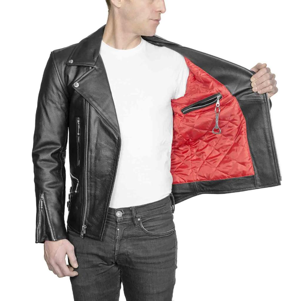 Men's Defector Leather Jacket, Black/Nickel Jackets