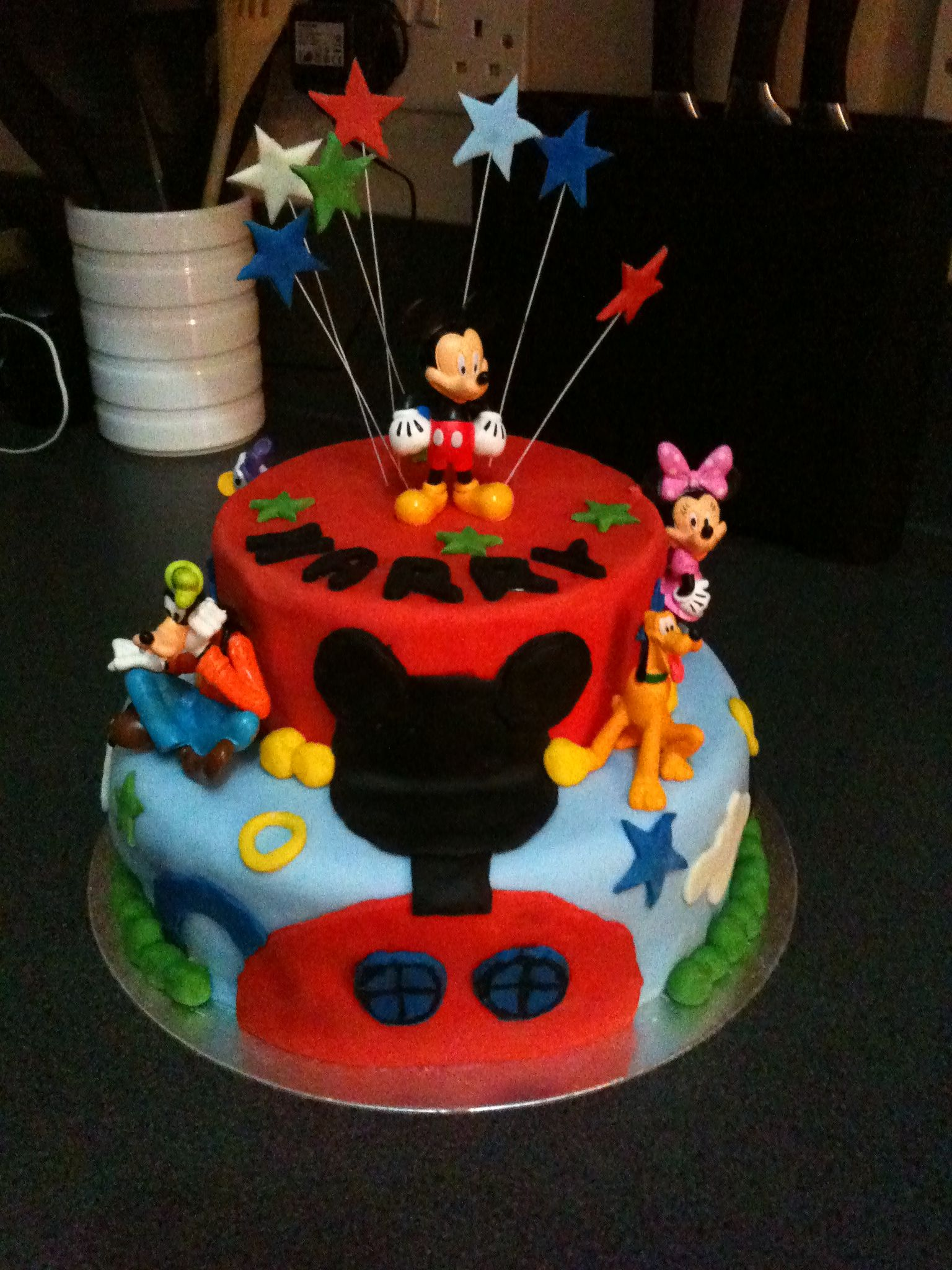 Mickey mouse cake I made!