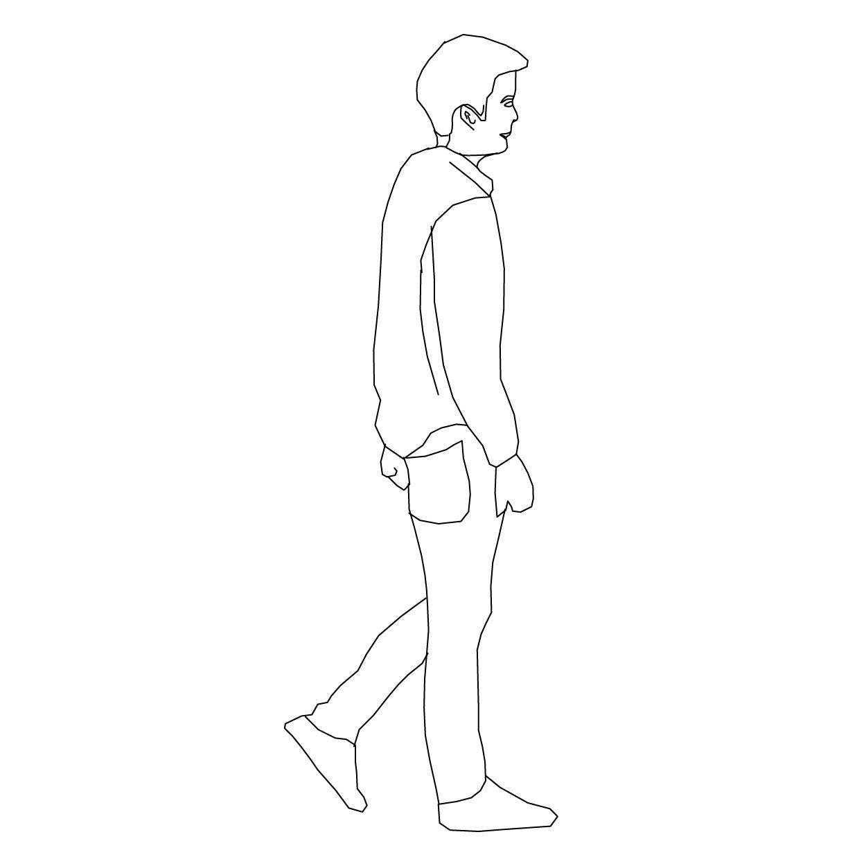 Standing Side View Drawing People Human Figure Sketches People Figures
