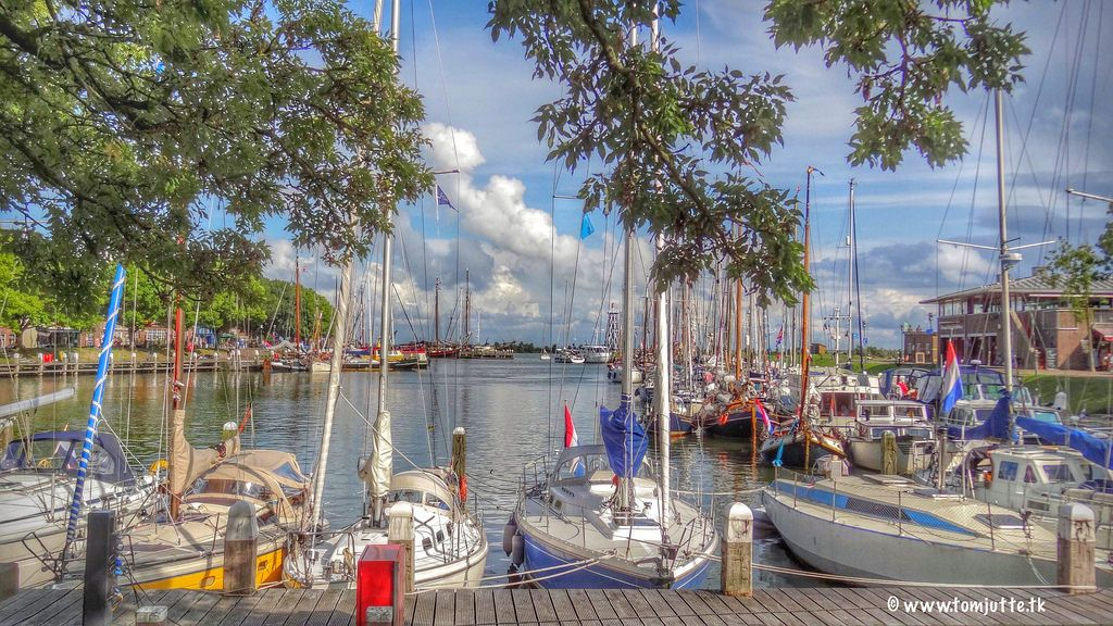 In 1395 was built the first inland harbor at Enkhuizen: the flea market or Lorre Turner Harbour (Dutch: de Rommel- of Lorredraaiershaven), still in use as outer harbor (Dutch: Buitenhaven) at this time. Now it is used as a mooring location for the pleasure sailing, making it very busy especially in the summer. This is what we saw during our Bicycle tours in the Netherlands, where we have cycled through the beautiful landscape. © www.tomjutte.tk .  https://www.picturedashboard.com