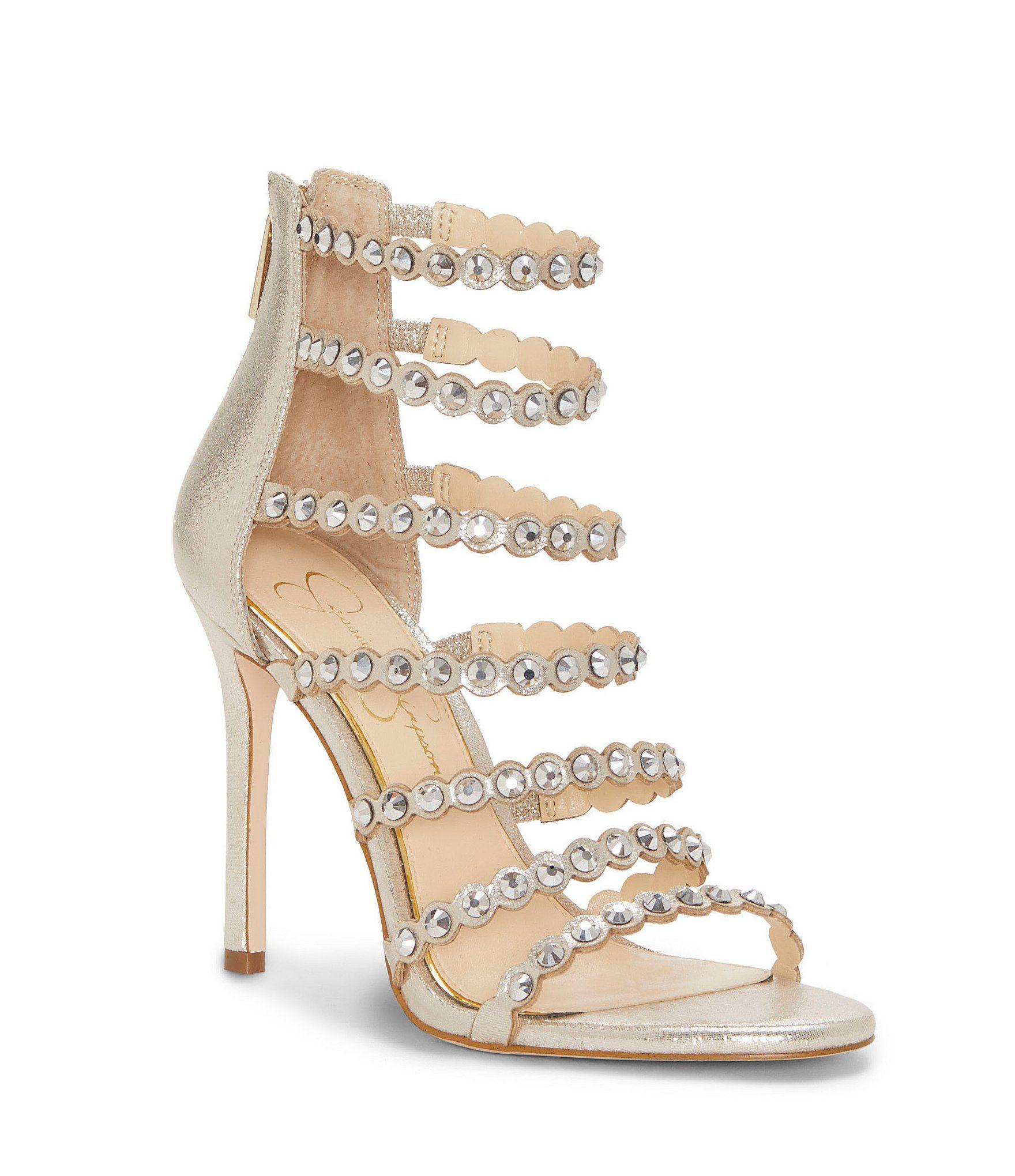 c4b9191491 Shop for Jessica Simpson Jezalynn Rhinestone Jeweled Strappy Dress Sandals  at Dillards.com. Visit Dillards.com to find clothing, accessories, shoes,  ...