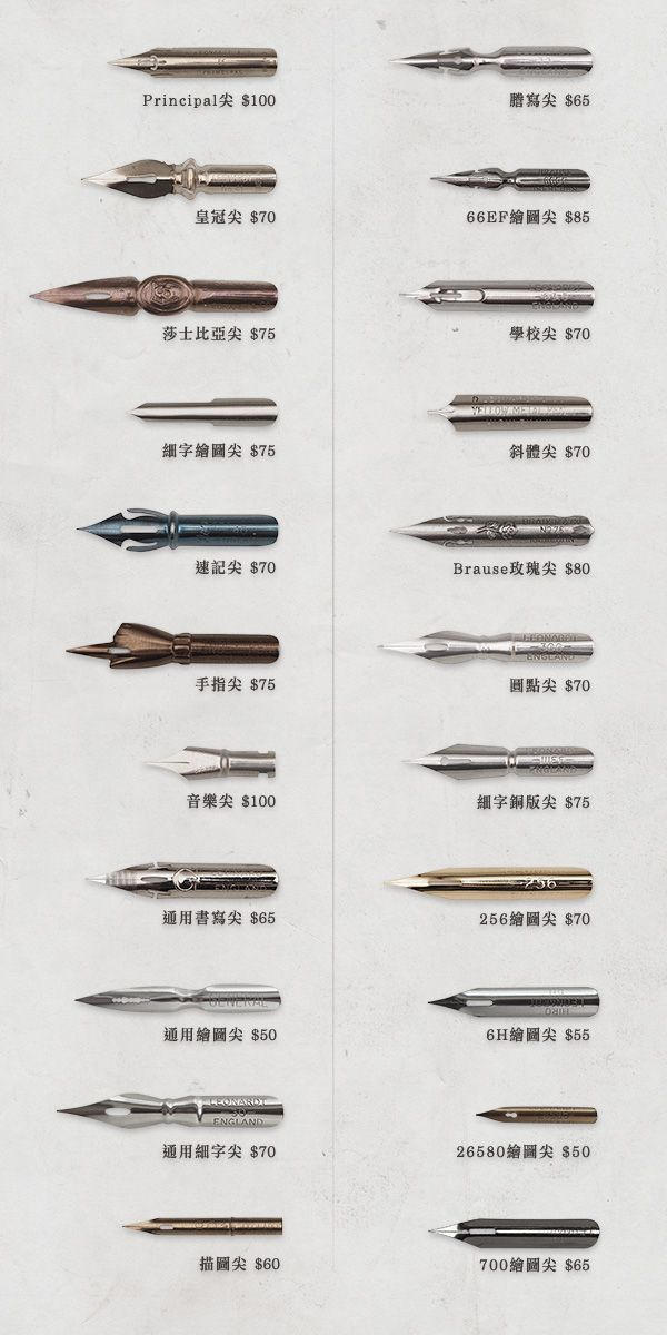 沾水筆尖-細尖 | Pinterest | Fountain pens and Anatomy