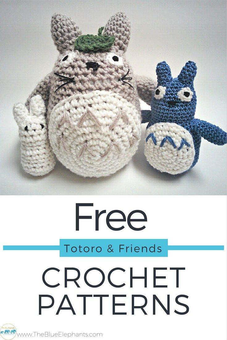 Free Crochet Pattern: Totoro & Friends | Ganchillo, Patrones y Años