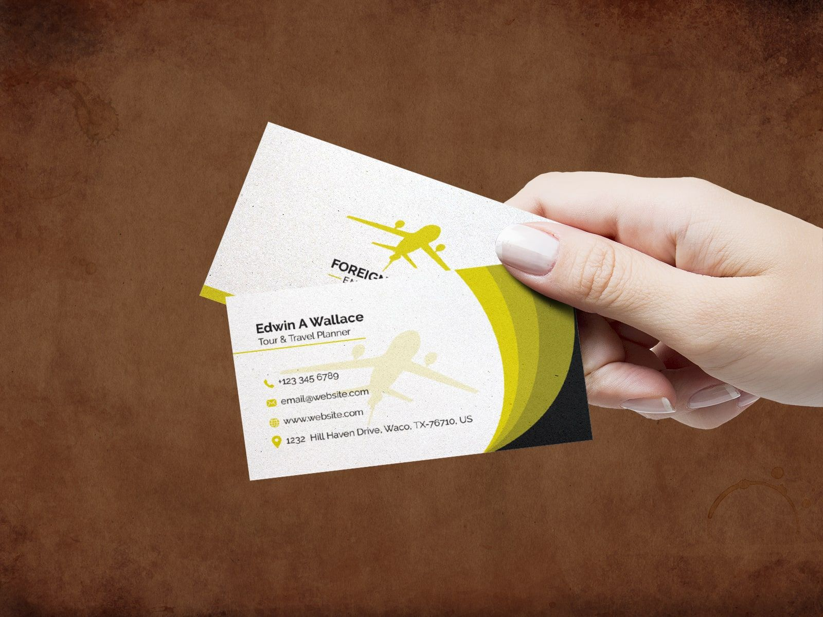 Travel Agency Business Card Design Template Business Card Template Design Agency Business Cards Business Cards Creative Templates