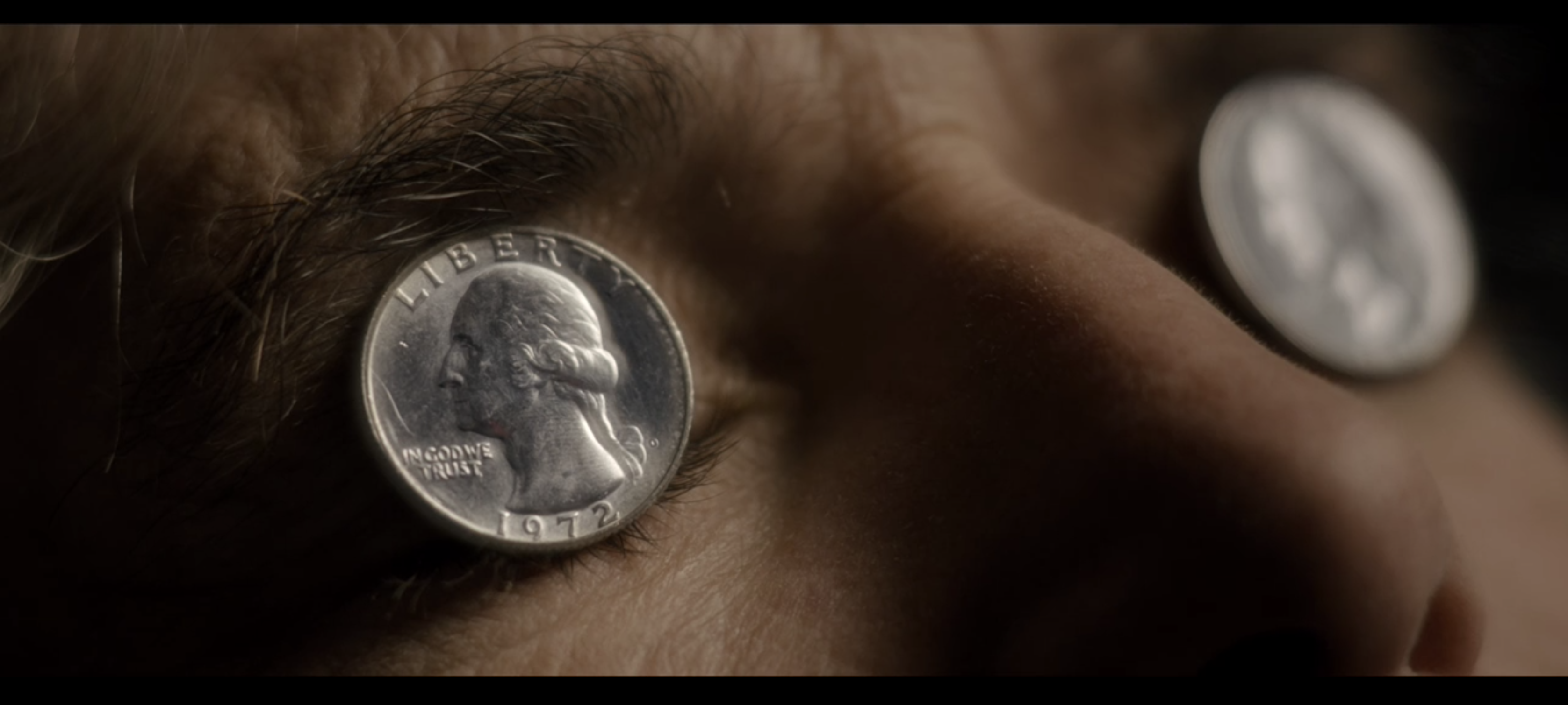 In Ready Player One 2018 The Two Quarters Placed Over James Halliday S Eyes Are From 1972 The Birth Year Of Halliday And Ready Player One Player One Players