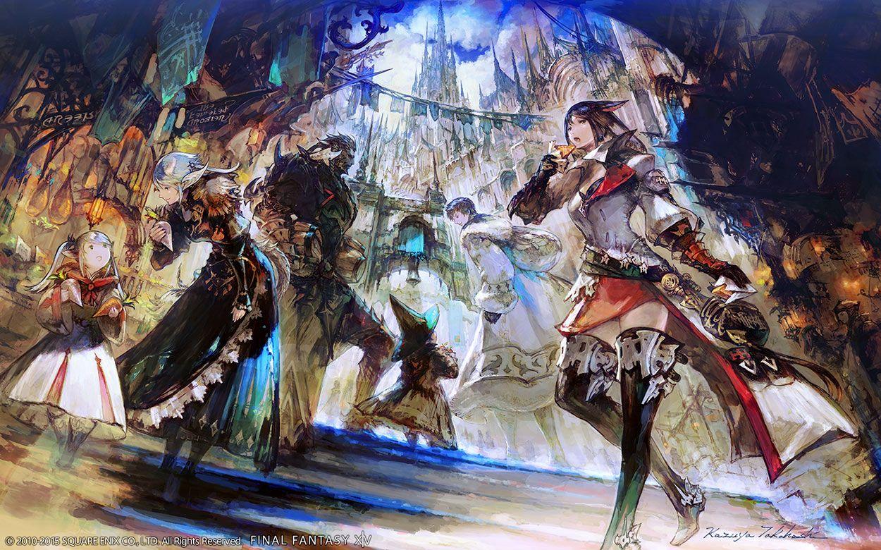 Ishgard Markets - Characters & Art - Final Fantasy XIV