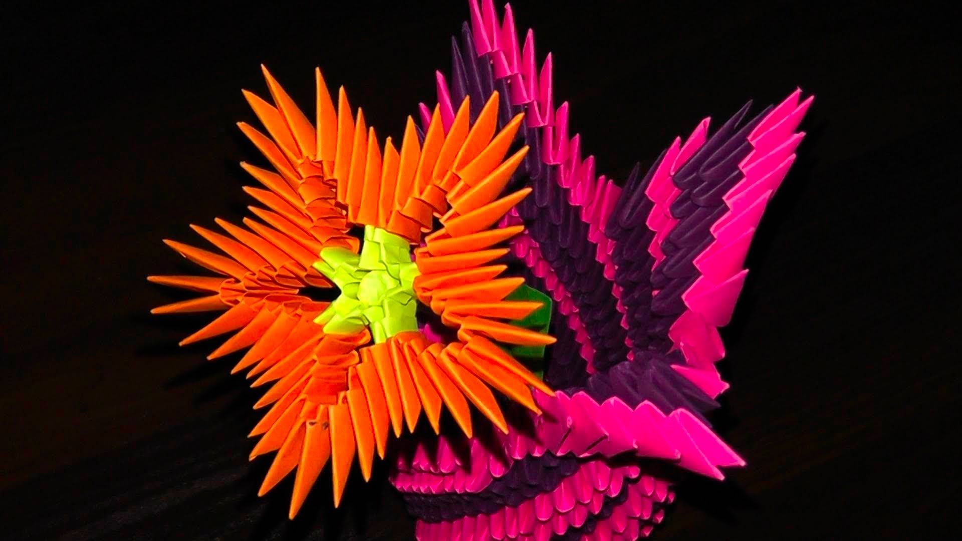 3d Origami Flowers Flower A Master Class For Beginners Origami Blume 3d Origami Origami Kunst