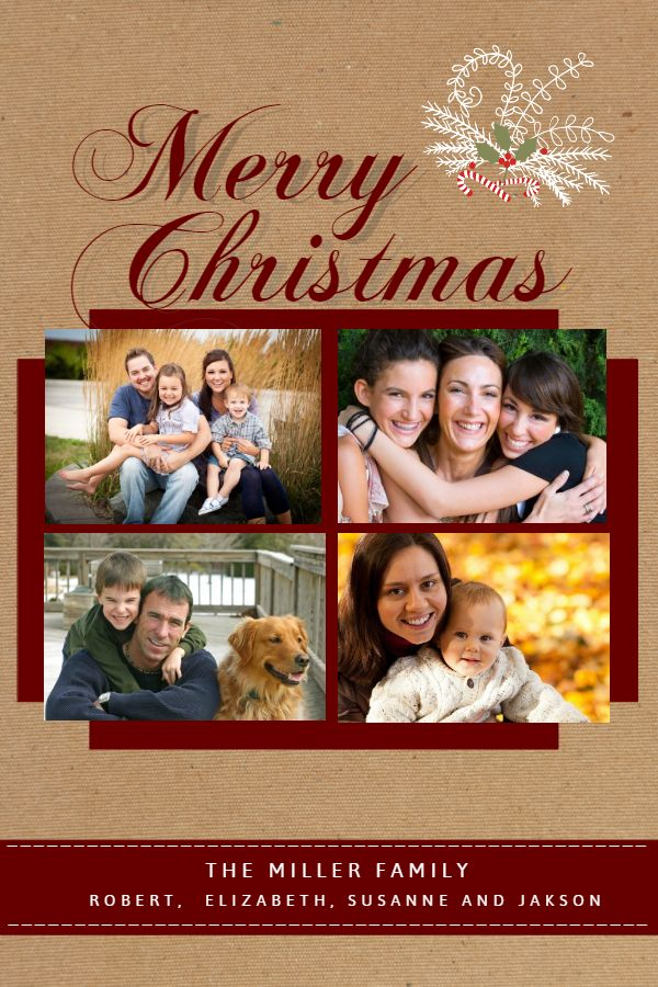 Custom Christmas Greeting Card Idea Photo Collage Template Collage Template Christmas Card Template