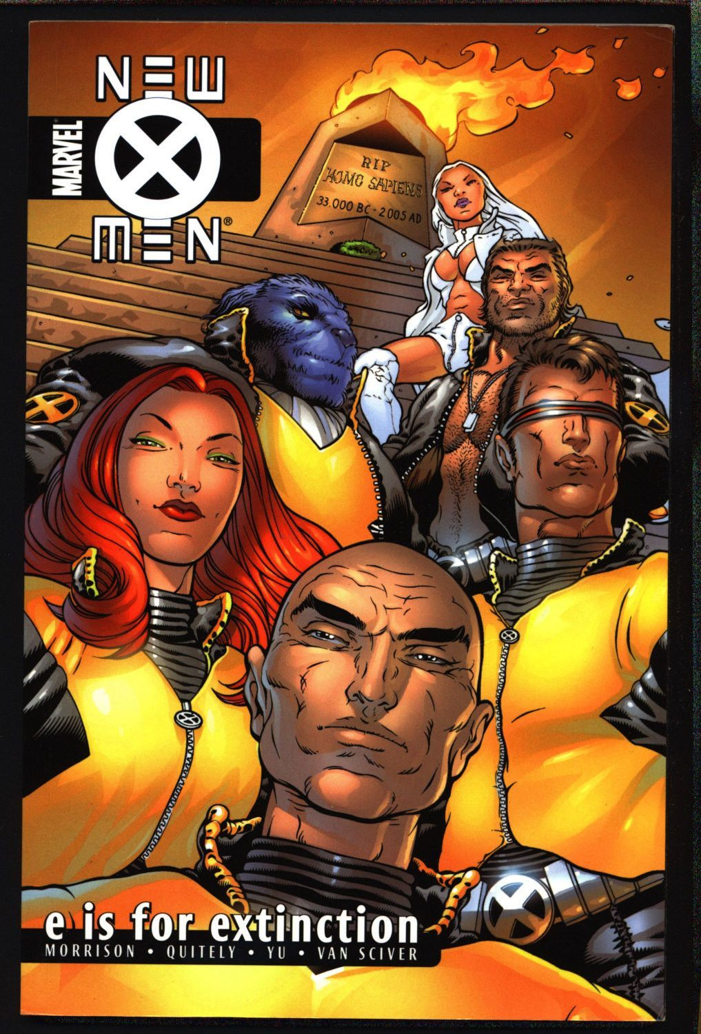 Marvel Comics New X Men E Is For Extinction Trade Paperback Book 1 Grant Morrison Frank Quitely Charles Xavier Mutant School Grant Morrison X Men Comics