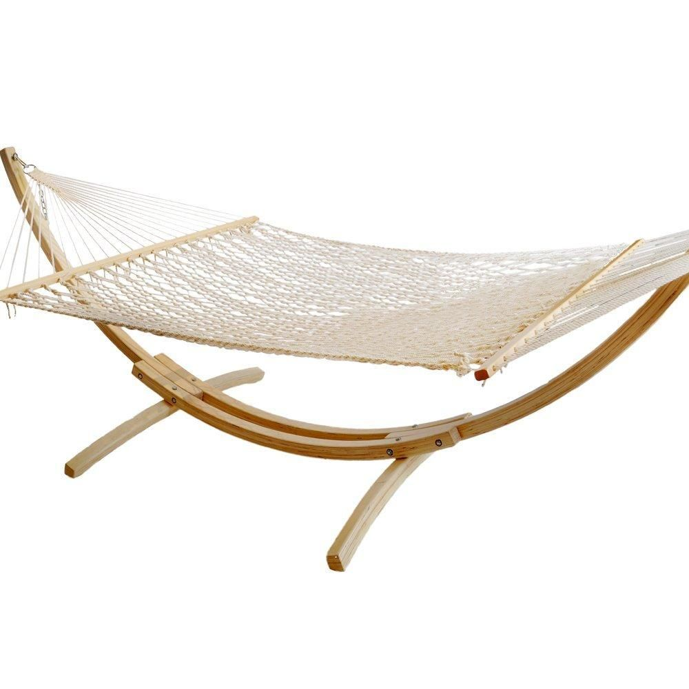 Double rope hammock heavy duty cotton two person with