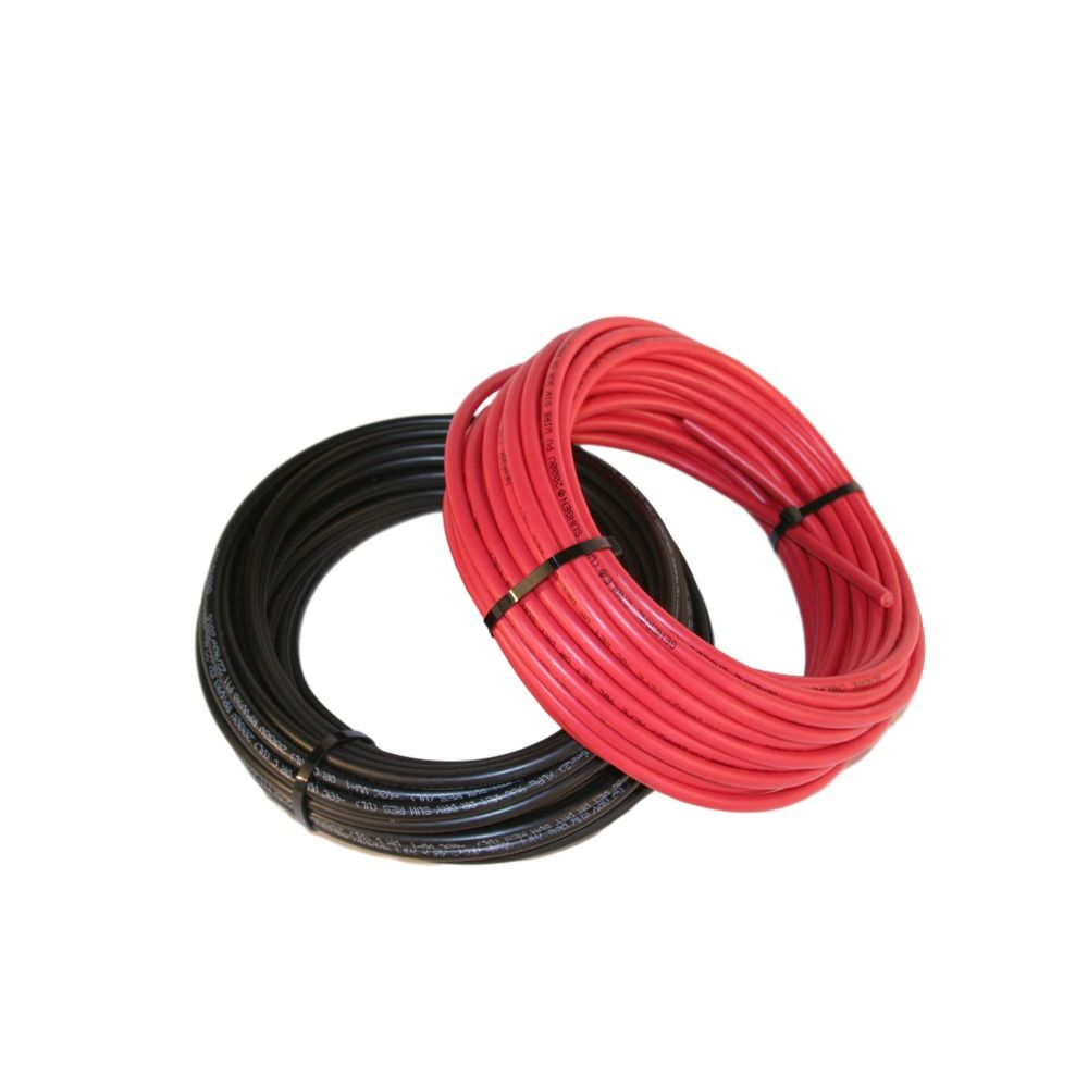 50 Each Black Red Solar Panel Extension Cable Wire 10 Awg 1000 House Wiring For Panels Vdc Fast Shipping From Global Supply Solarpanels Solarcable