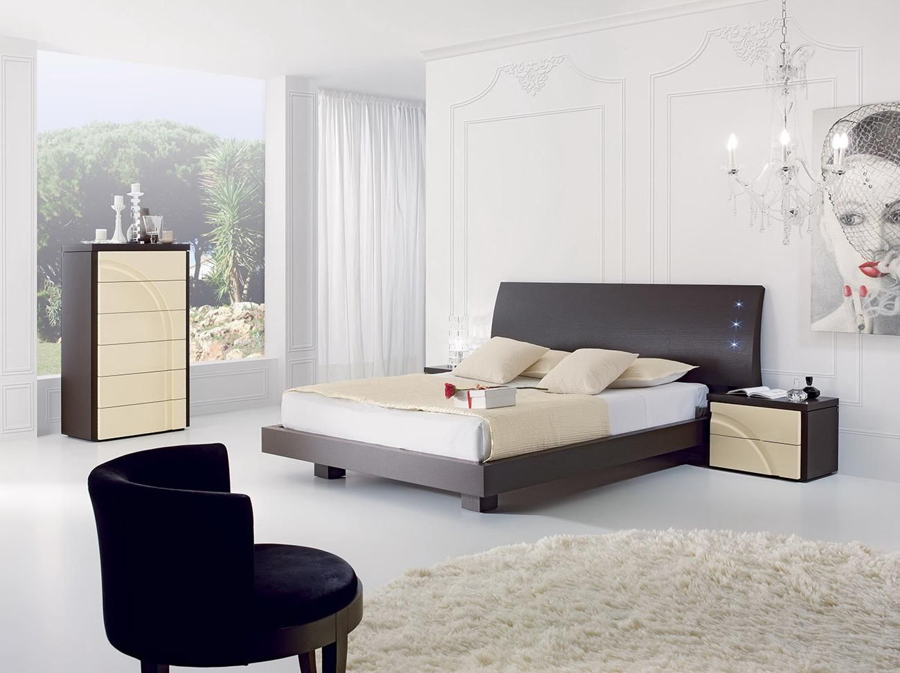 Modern And Stylish Bedroom Decoration With White Black Beige Colors Decorating Bedrooms for Men In Smart and Simple Ways Bedroom design & Modern And Stylish Bedroom Decoration With White Black Beige Colors ...