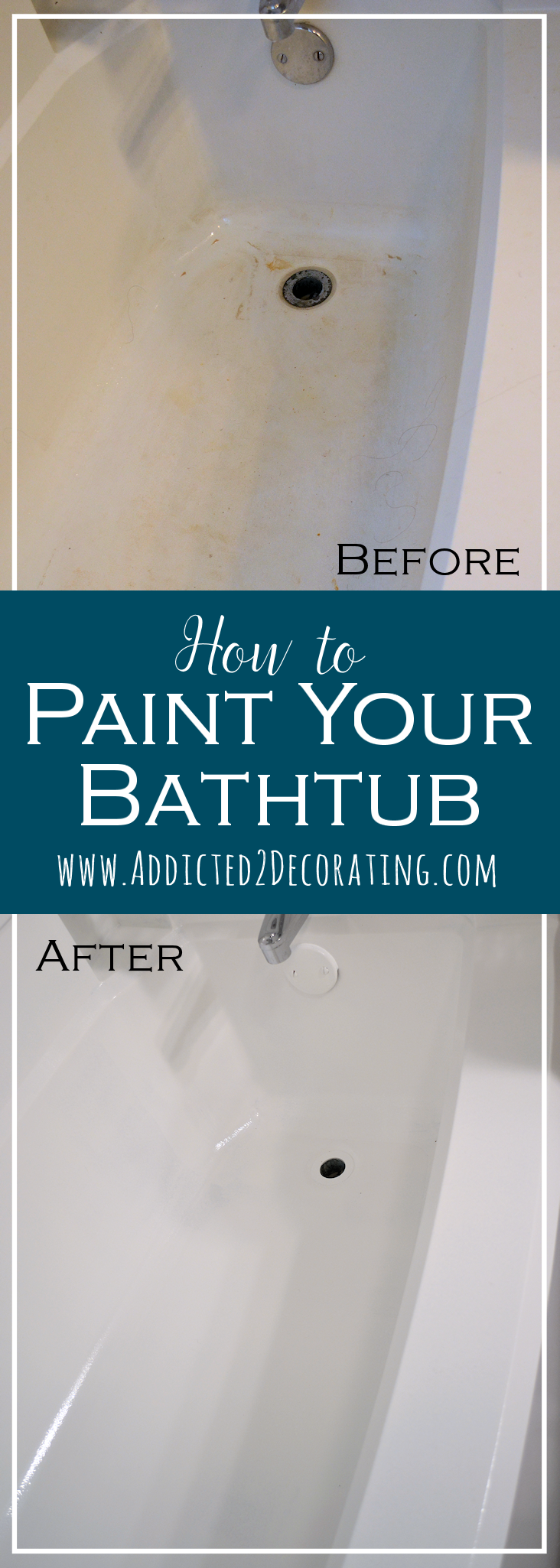 How To Paint Your Bathtub   Before And After
