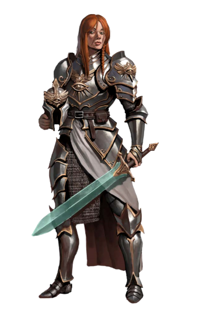 Female Paladin Knight - Pathfinder PFRPG DND D&D d20 ...