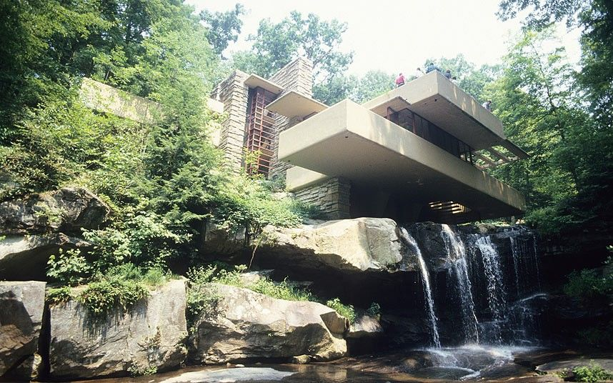 Falling Water, home designed by Frank Lloyd Wright, Pennsylvania USA