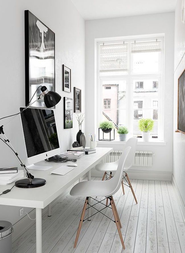 30 Cool And Stylish Small Home Office Ideas | Inspiration, Interiors ...