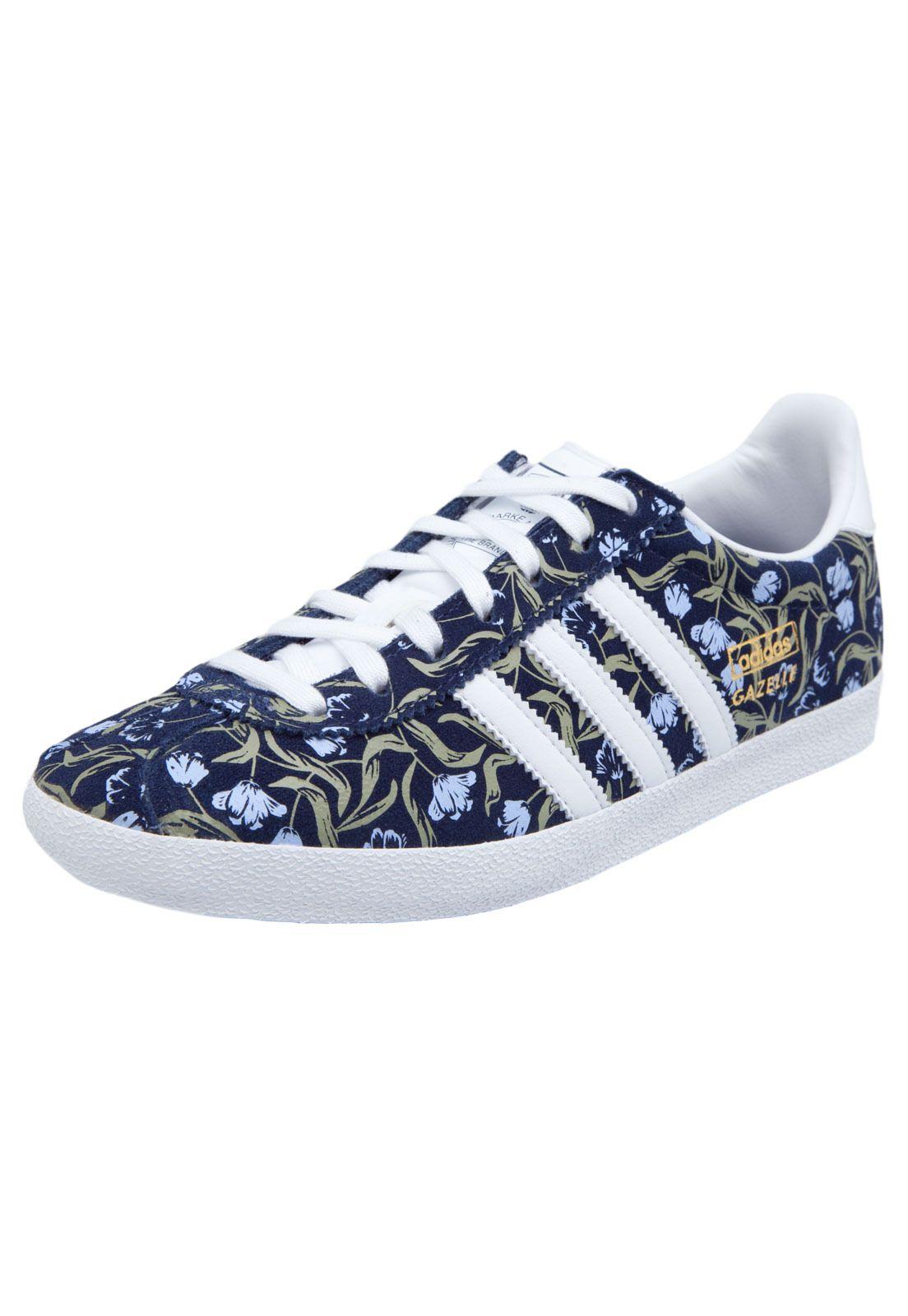 Tênis adidas Originals Gazelle Og W Azul Marinho - Marca Adidas Originals 55adcc1460129