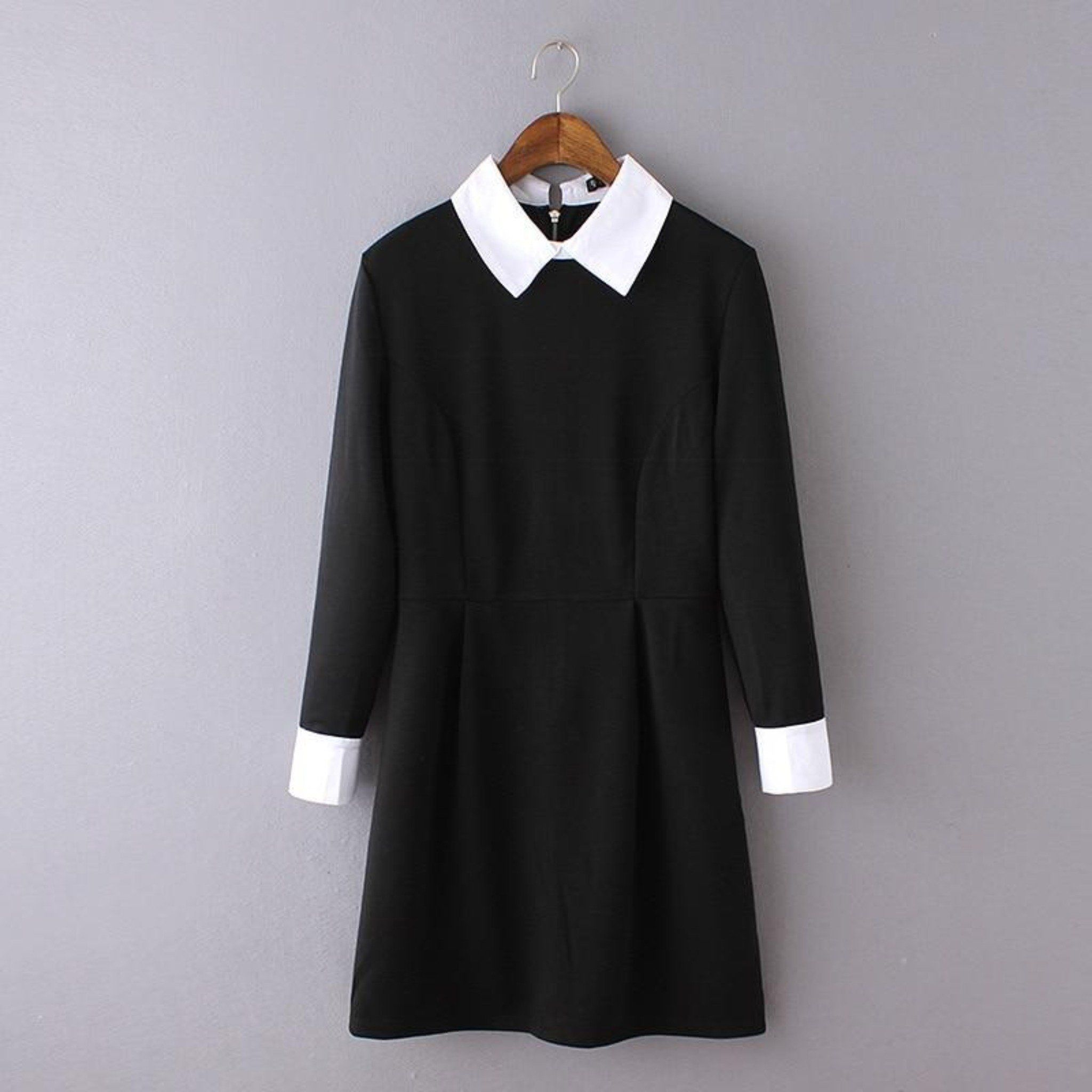 The Basic Wednesday Dress In 2021 Wednesday Dress Black Clothes Women Preppy Dresses [ 2048 x 2048 Pixel ]
