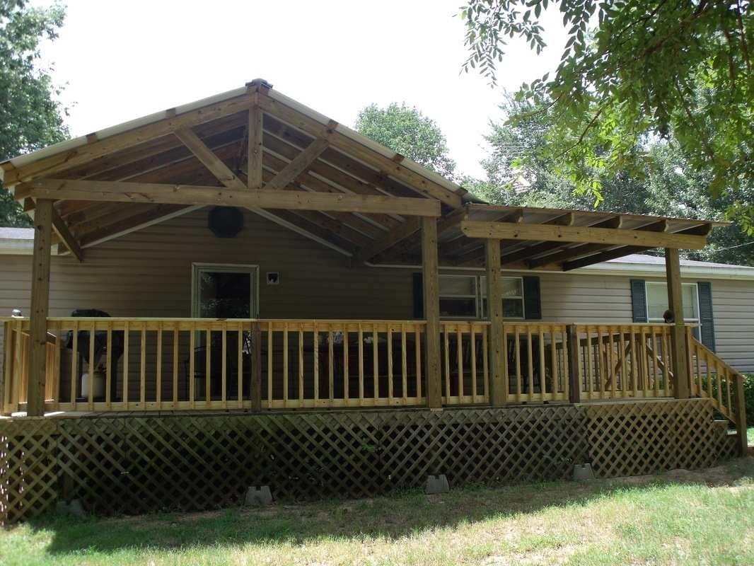 Gables how to attach a porch roof to a mobile home with