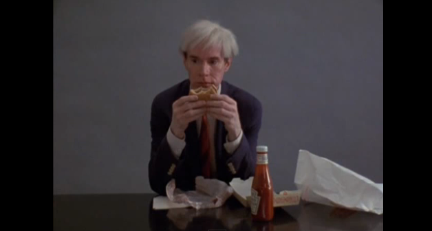 Andy Warhol eating a hamburger  66 Scenes from America