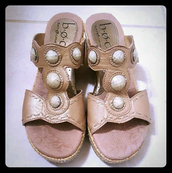 Tan Shimmering b.o.c Used and in great condition Born Shoes Wedges