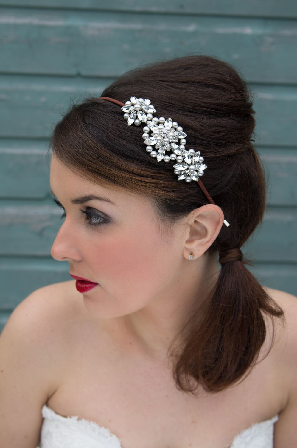 glorious tiaras - tiaras - lily side tiara |  glorious bridal hair