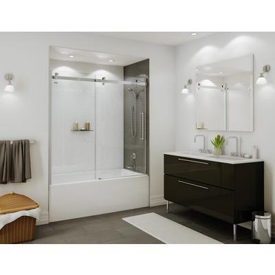 Maax Bath Halo Tub Door 60 Inch Chrome Clear 139398