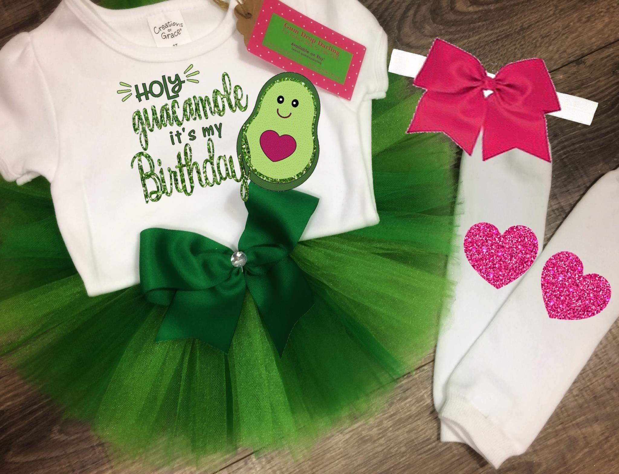 1f7fd579aee86 Birthday tutu, Avocado shirt, Birthday Top, Birthday tutu outfit, holy  guacamole, avocado outfit, green tutu, bow headband, heart leggings by  GumDropDarling ...