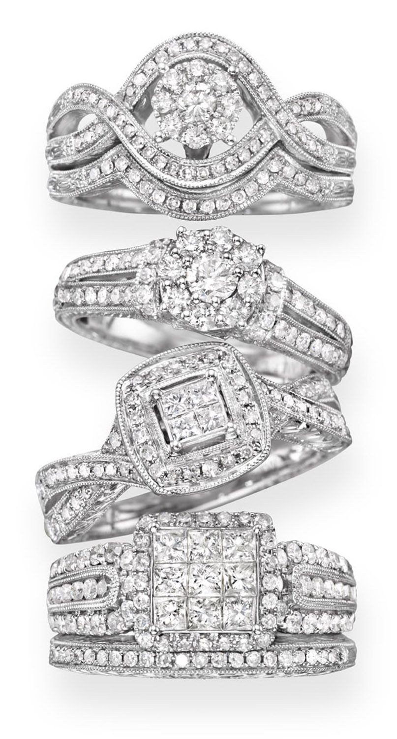 Lovely cherished hearts vintage inspired wedding rings from JCPenney