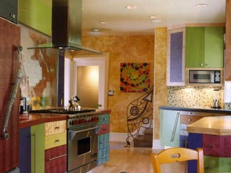 Multi Colored Cabinets Kitchen Cabinet Remodel Kitchen Design Kitchen Colors