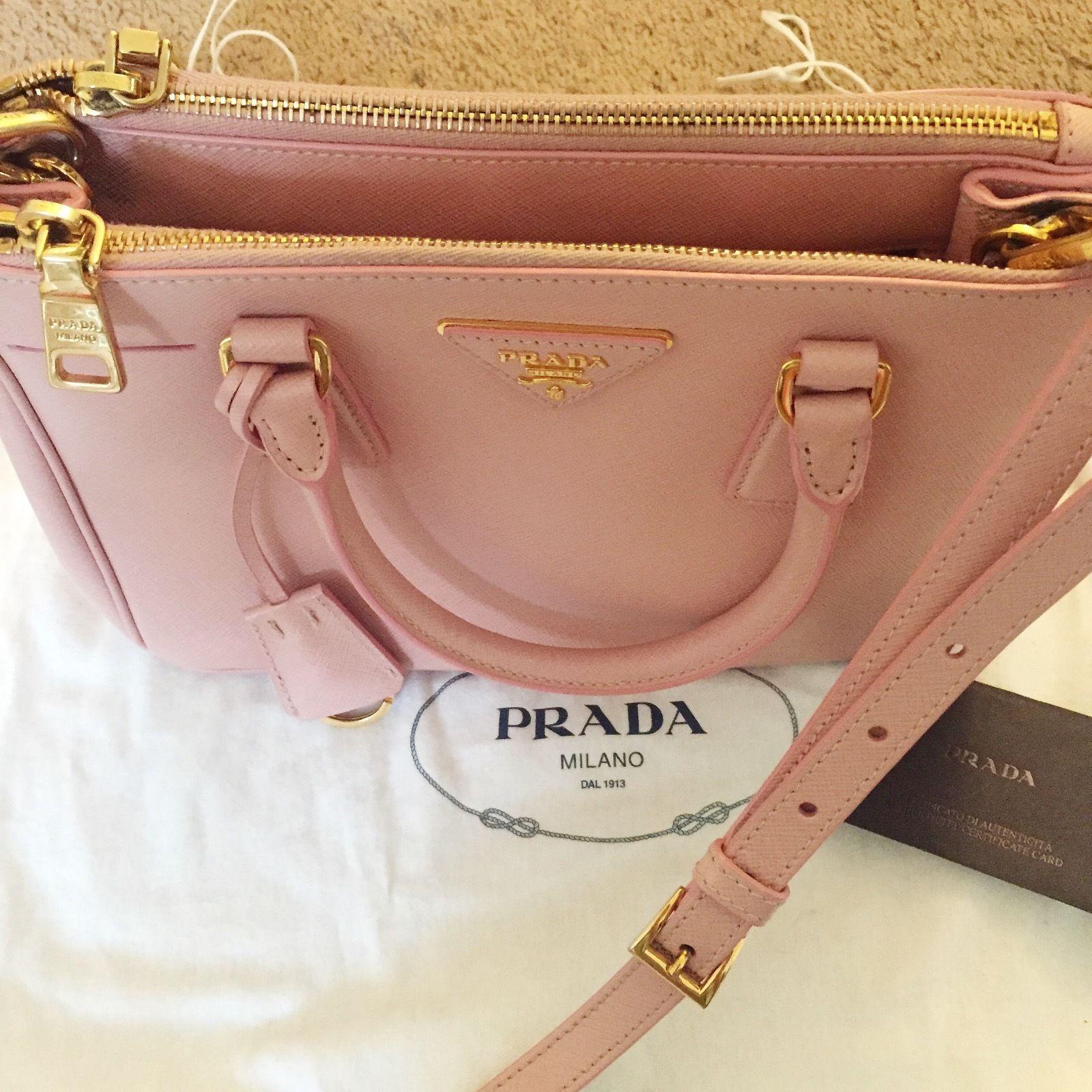 d1e384a5a50e Prada Saffiano Double-Zip Mini Crossbody handbag orchid pink | Prada ...